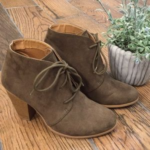 Maurices ankle lace-up booties.